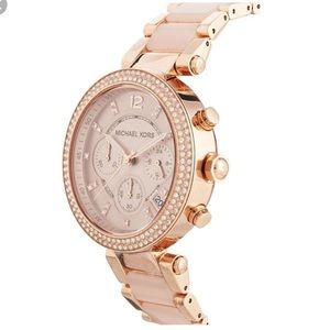 MK Parker Watch Rose Gold and Blush Pink