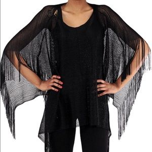 Accessories - Black Sheer Poncho Coverup