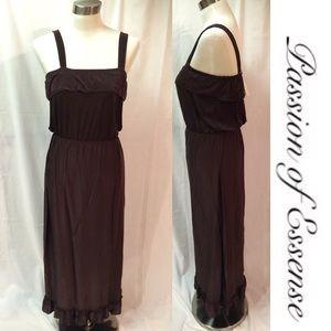 Dresses & Skirts - Brown Ruffle Sundress