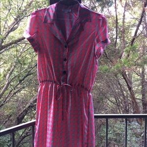 Shelby and Palmer Dresses & Skirts - Diamond grey and pink shirt dress