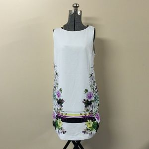 Purple & White Floral Dress Worthington