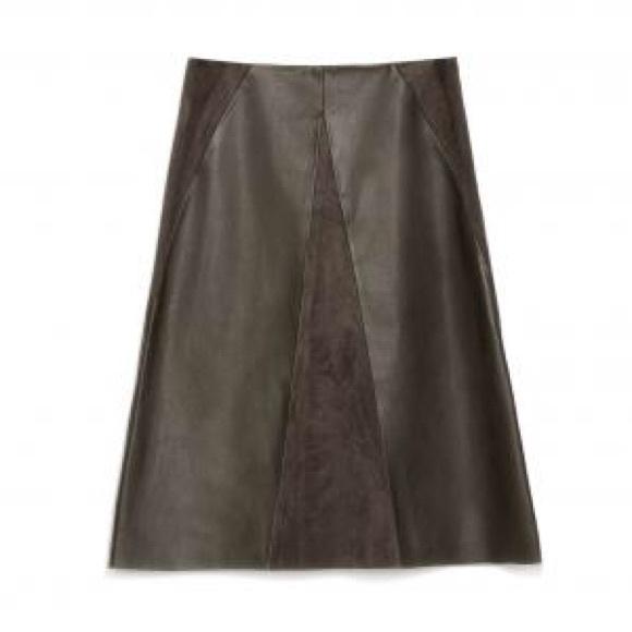 61 zara dresses skirts zara olive faux suede