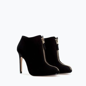 Zara zipper ankle boot