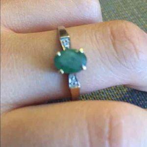 10k emerald gold ring