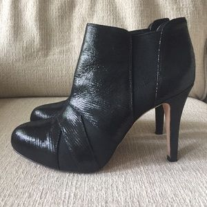 Saks Fifth Avenue Shoes - Saks Fifth Avenue Sabra Leather Black Booties