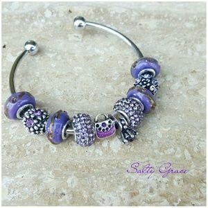 Salty Grace  Jewelry - Handbag, ring, love to shop, purple charm bracelet