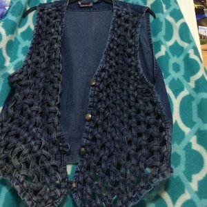 Nice antique woven Jean vest