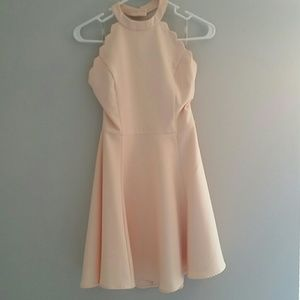 56c44e0c962 Nasty Gal Dresses - Nastygal full scallop attack flare dress-peach