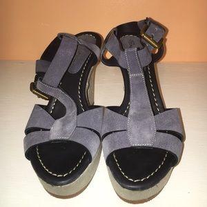 Santoni Shoes - Santoni Blue suede sandal