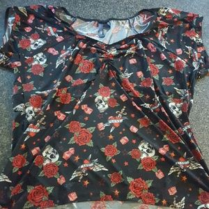 Retro Chic Tops - Rockabilly shirt