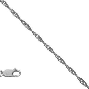 Jewelry - 14k White Gold Open Rope Singapore Womens Bracelet