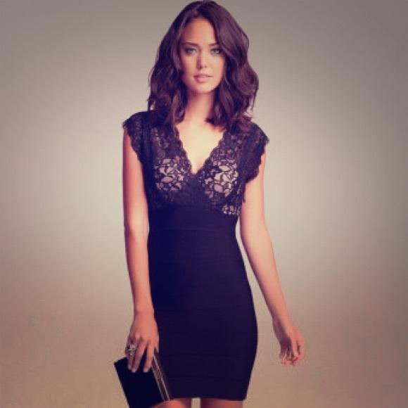 8703ab500ee bebe Dresses & Skirts - BEbe cutout lace bandage dress