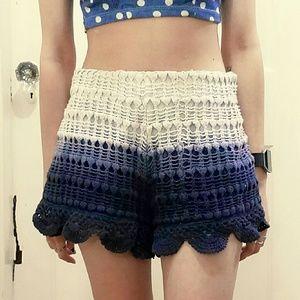 Zara Trafuluc crochet ombre scallop shorts
