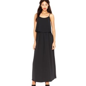 Maison Jules layered sleeveless black maxi dress