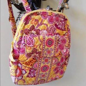 Vera Bradley Bali Gold Backpack