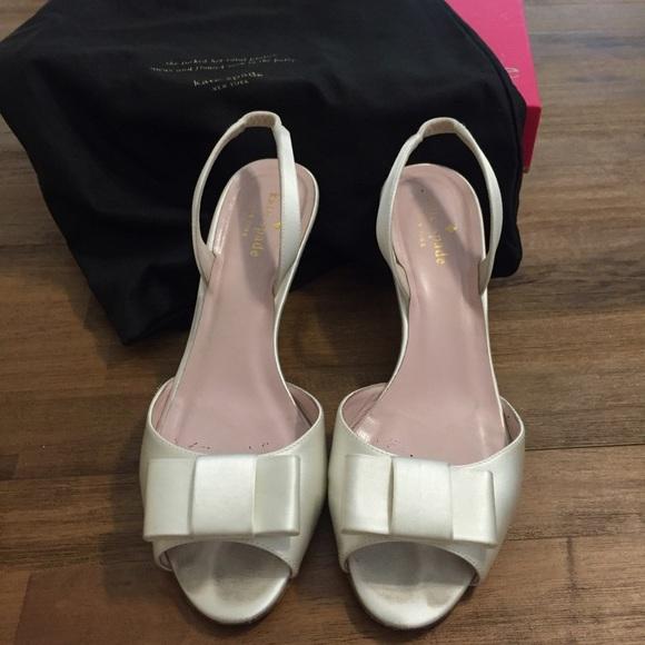 50 kate spade shoes kate spade white satin sandals