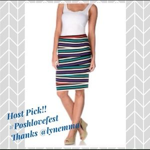 Chelsea & Theodore Dresses & Skirts - 🎉HP🎉Chelsea & Theodore Striped Tiered Skirt