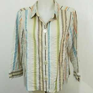 Christopher and Banks Button Down Blouse