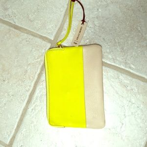 Gap two toned leather wristlet