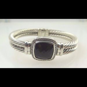 David Yurman Jewelry - David Yurman Diamond Silver Bangle Bracelet