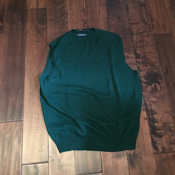 88% off Ralph Lauren Other - Hunter green sweater vest from ...