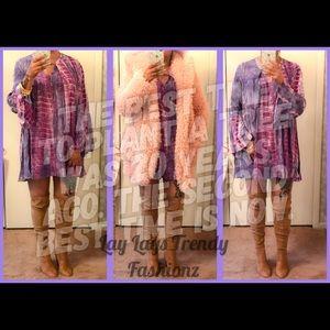 Dresses & Skirts - Tie Dye A Line Dress- PURPLE MIX