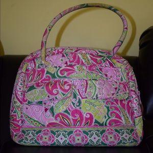 Vera Bradley Pinwheel Pink Bowler Satchel Handbag