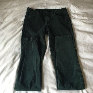 Joe's green corduroy pants