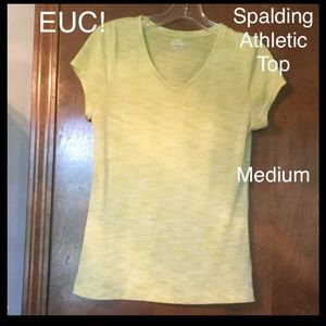 Spalding Tops - EUC! Spalding lime green athletic top Medium