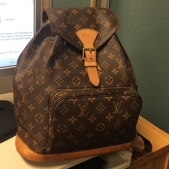 63b2464103382 LV Montsouris GM Monogram Canvas Backpack Bag