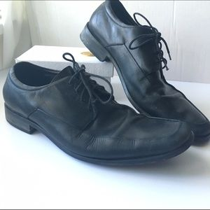 Gordon Rush Other - Gordon Rush // Square Toe Leather Shoes - black