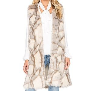 Southern Girl Fashion Jackets & Blazers - FAUX FUR VEST Long Draped Maxi Cardigan Tan Jacket