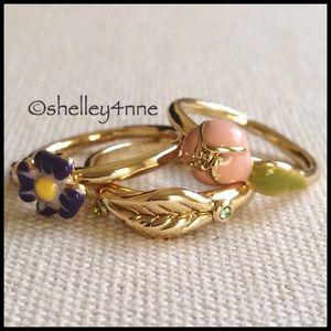 Jewelmint Jewelry - NWOT Garden Trio Ring Set