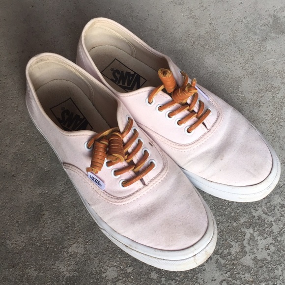 bd9572766d Light Pink Vans with Leather Laces. M 57ae3b506a583041a601aa5b