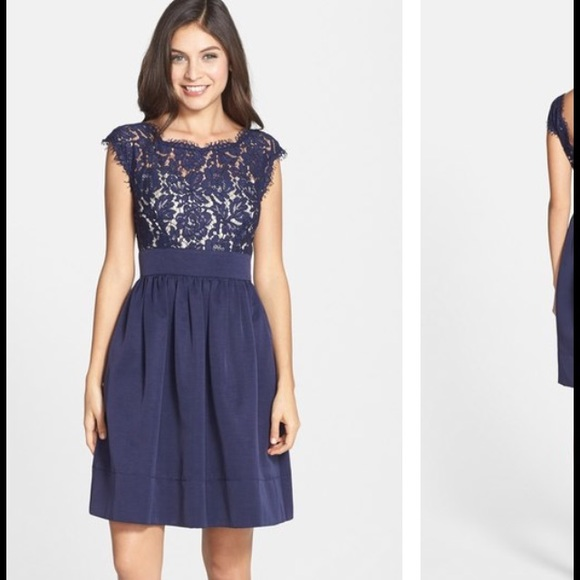 Eliza J Dresses Navy Cocktail Dress Poshmark