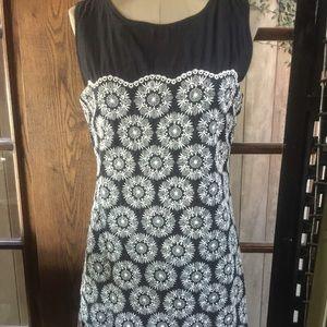 MAX STUDIO SHIFT Dress- Black & White - Sz M