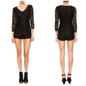 LAST CHANCE💓Rory Beca Black Lace Romper