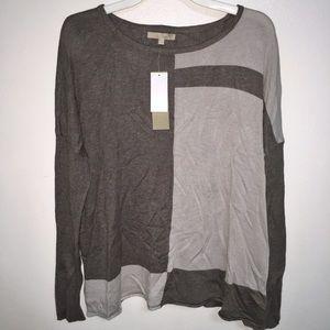 Joan Vass Carol Colorblock Cashmere Knit Sweater