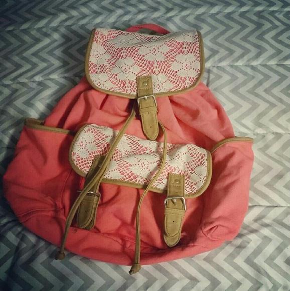 0324c6f71342 Aeropostale Handbags - Crochet lace backpack