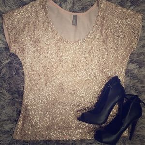 Vanity Shimmer Top size small