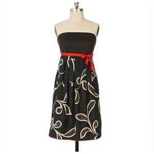 Maeve Anthropologie Hosta Leaf Dress