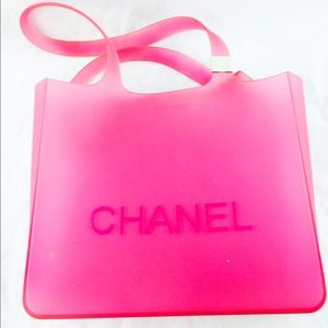 d20c9a9cafb Chanel Bags - Chanel Logo Small Pink Jelly Rubber Tote Bag