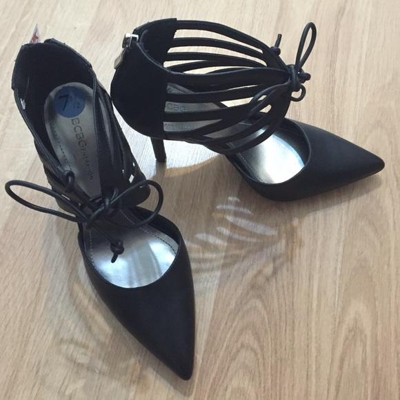 BCBG Shoes - NWT BCBG Lace up Pointed Toe Pumps Black