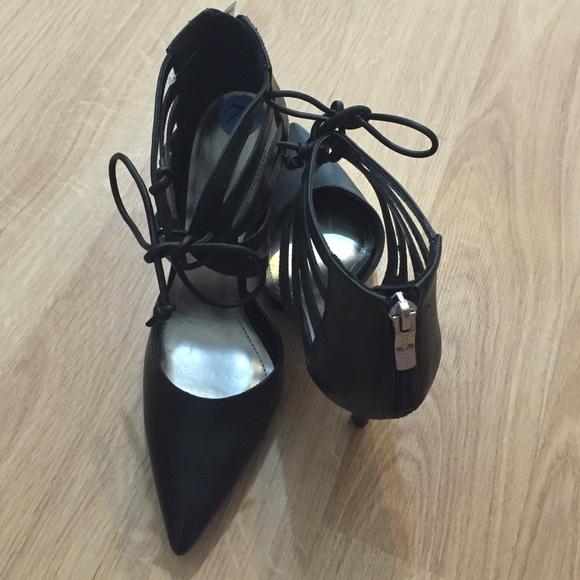 BCBG Shoes - NWT BCBG Lace up Pointed Toe Pumps Black