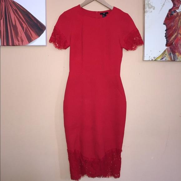 fa4cf19221 H&M Dresses   Red Midi Dress   Poshmark