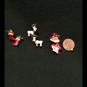 SOLD CHRISTMAS POST EARRINGS 3 for $10