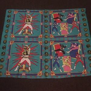 Power Ranger Accessories - rare 1995 power rangers fabric panel