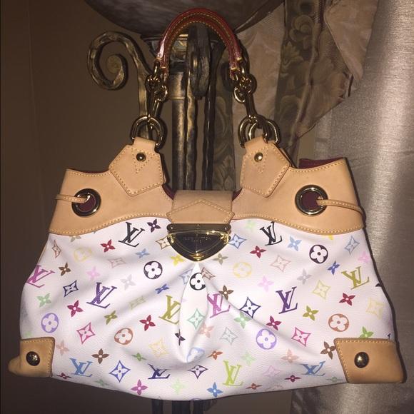 205cf3ffa7a Authentic LV Ursula white Multicolor Handbag