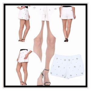 NWT MK white embellished skort