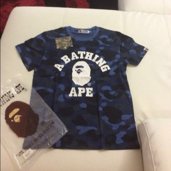 df3ae99379f8 Bathing Ape Other - Authentic Bathing Ape Blue Camo T-Shirt.